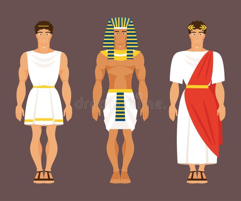 Le grec ancien, égyptien et romain Illustration de vecteur illustration stock