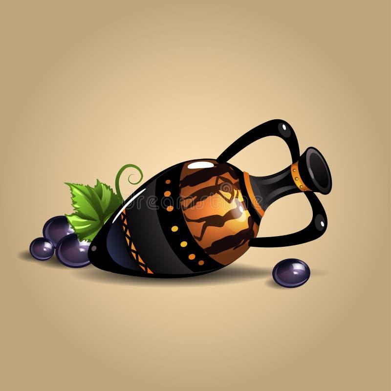 le grec ancien d'amphora illustration de vecteur