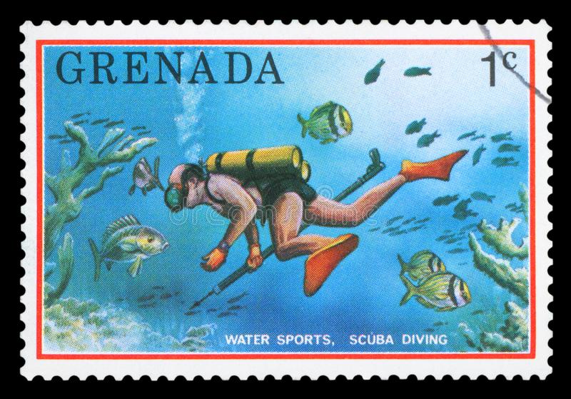 LE GRENADA - Timbre-poste images stock