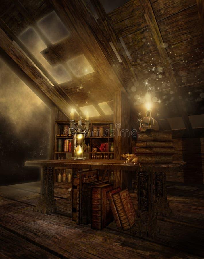 Le grenier 2 du magicien illustration stock
