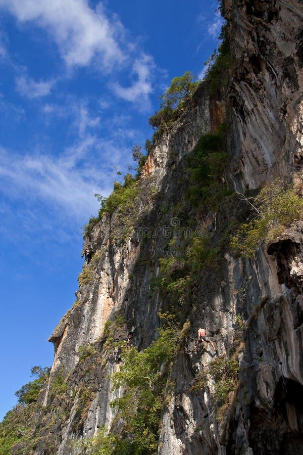 Le grimpeur de montagne, Rai étendent la plage, sud de la Thaïlande photographie stock