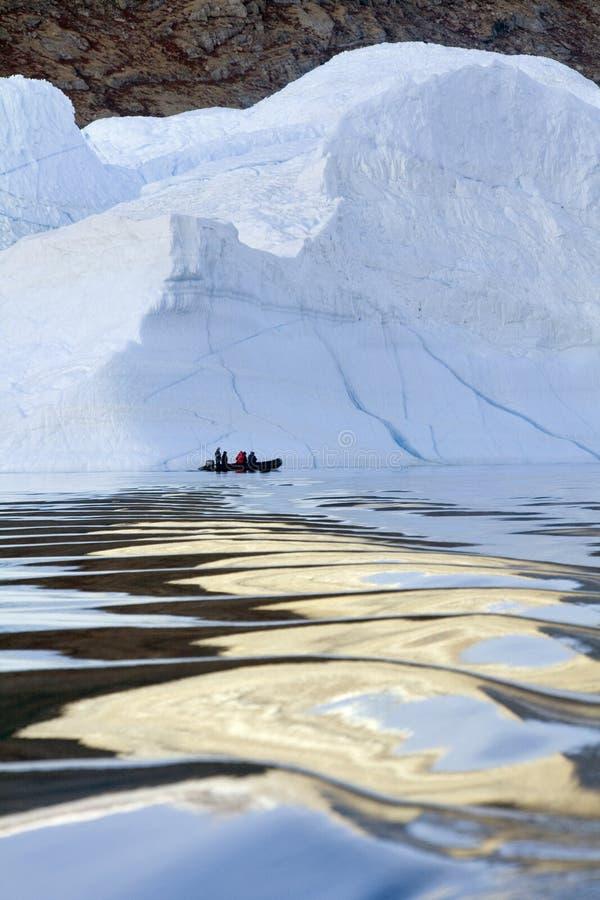 Le Groenland - iceberg - fjord de Franz Joseph images libres de droits