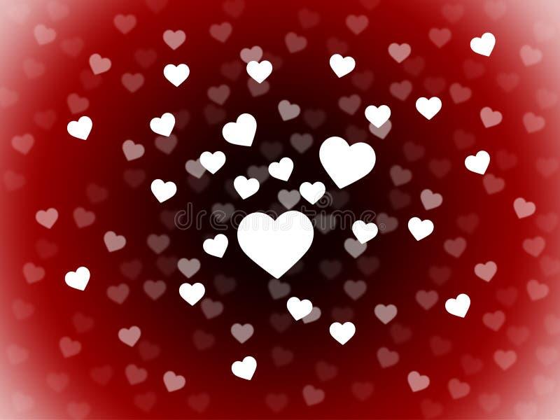 Le groupe de fond de coeurs montre la passion et l'amour Romance illustration stock