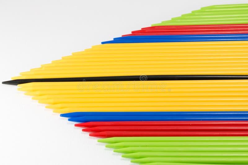 Le groupe de la collecte colorée colle l'endroit côte à côte photo libre de droits
