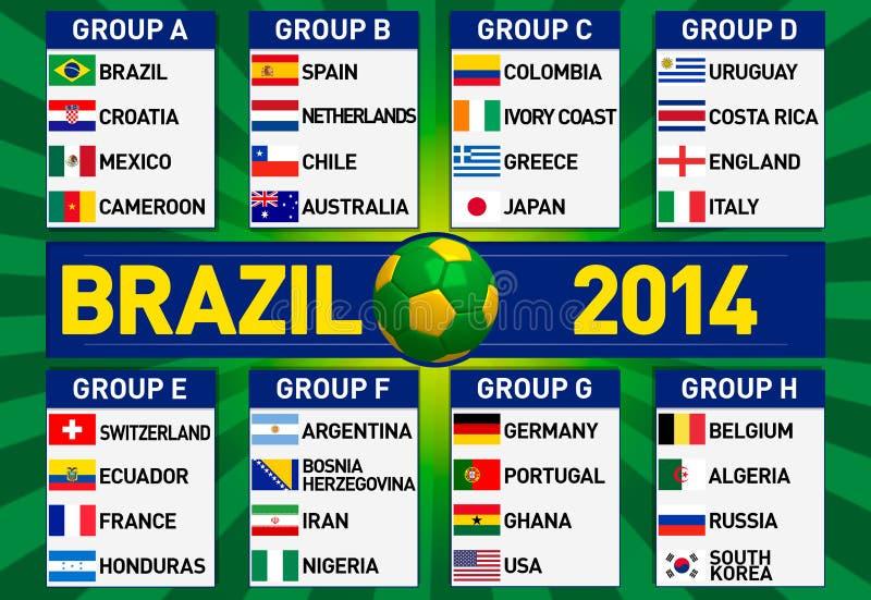 Le groupe du Brésil présente l'illustration illustration de vecteur