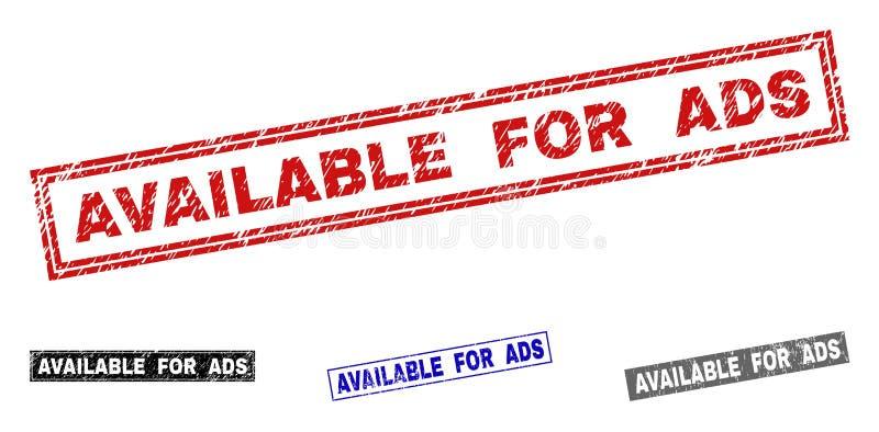 Le grunge DISPONIBLE POUR l'ADS a donné à des timbres une consistance rugueuse de rectangle illustration de vecteur