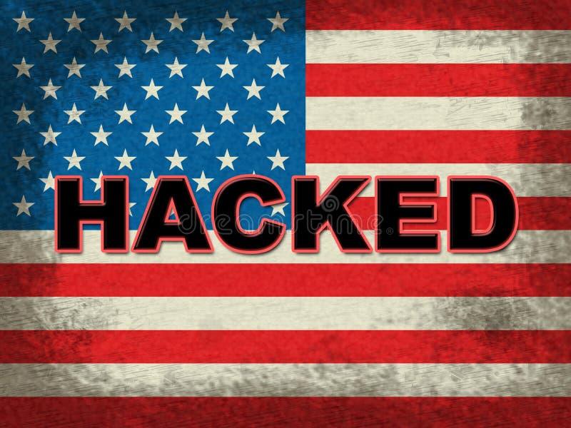 Le grunge entaillé de drapeau américain montre entailler l'élection 3d Illustrati illustration libre de droits