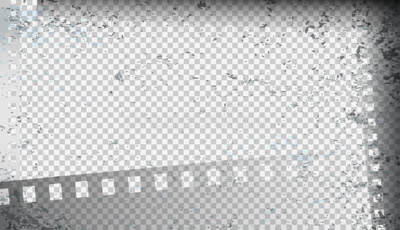 Le grunge a souillé les bandes sales de film sur le fond carré Illustration de vecteur illustration de vecteur