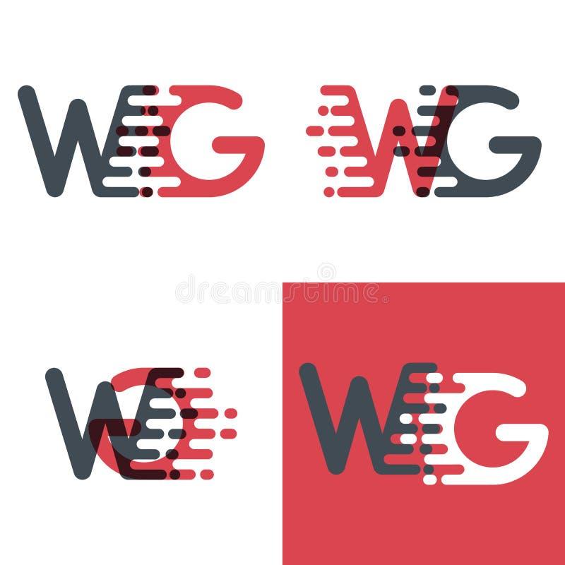 Le GT marque avec des lettres le logo avec le rose de vitesse d'accent et gris-foncé illustration de vecteur