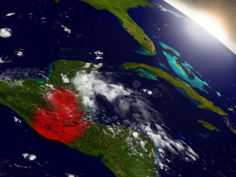 Download Le Guatemala De L'espace Accentué En Rouge Illustration Stock - Illustration du science, guatémaltèque: 77161735