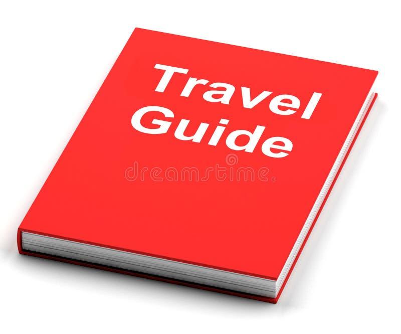Le guide de voyage montre des informations sur des voyages illustration stock