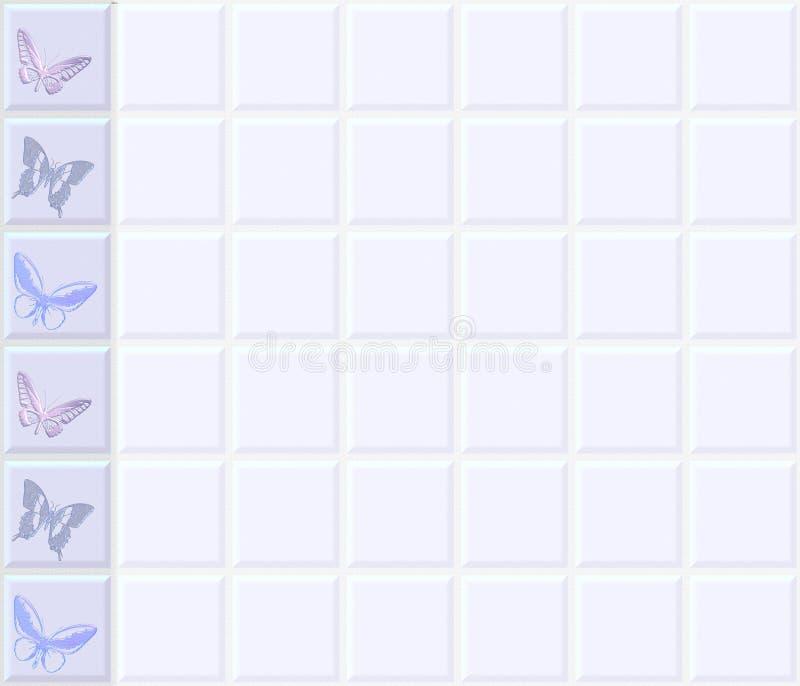 Le guindineau couvre de tuiles le cadre de mur illustration stock