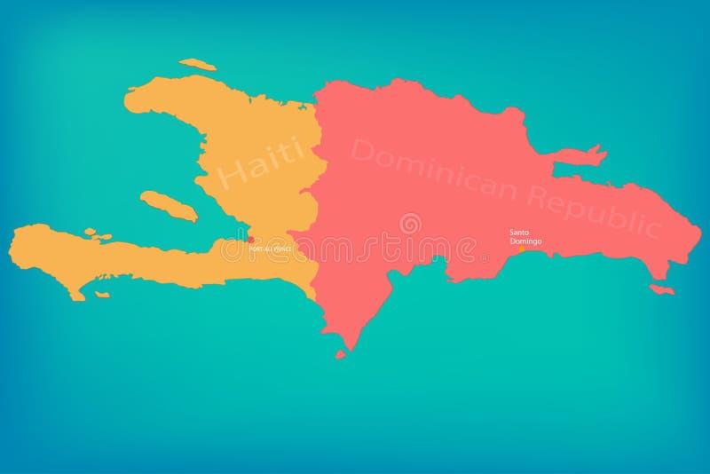 Le Haïti sur la carte illustration stock