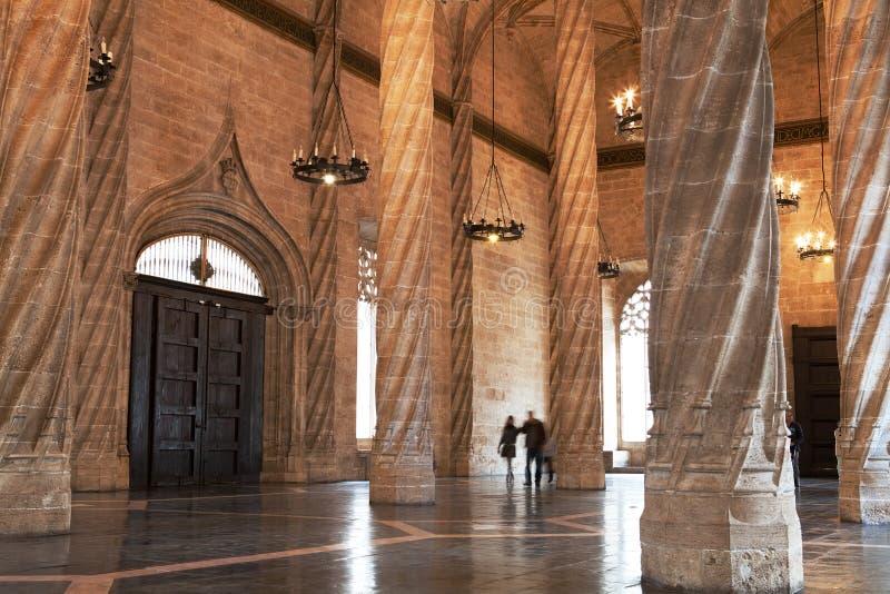 Le Hall de l'échange en soie, Valence photographie stock
