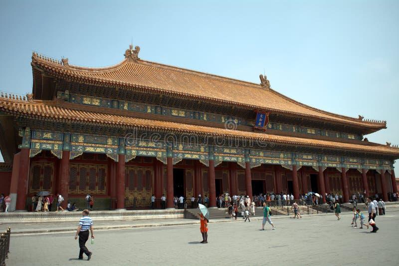 Le Hall de l'harmonie suprême dans le Cité interdite, Pékin, Chin images libres de droits