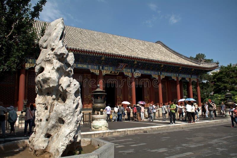 Le Hall de la bienveillance et de la longévité au palais d'été, Beij image stock