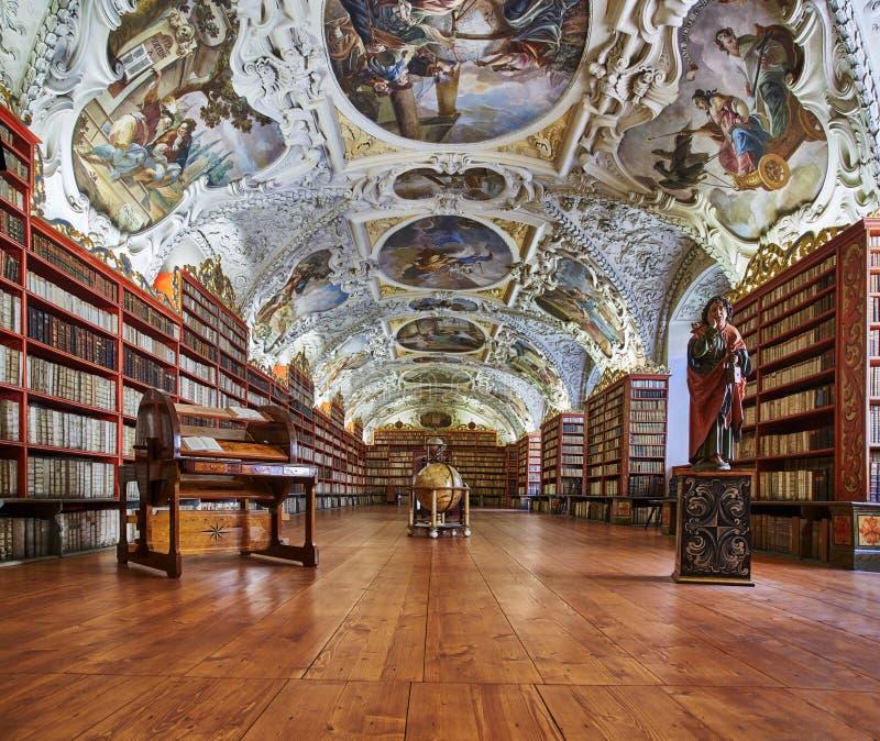 Le Hall théologique ; Monastère de Strahov, Prague photos libres de droits