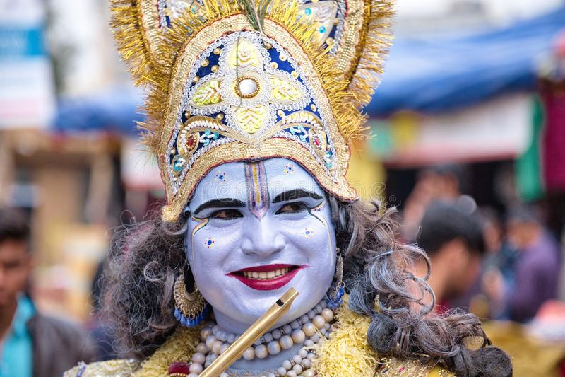 Le haren Krishna royaltyfria foton