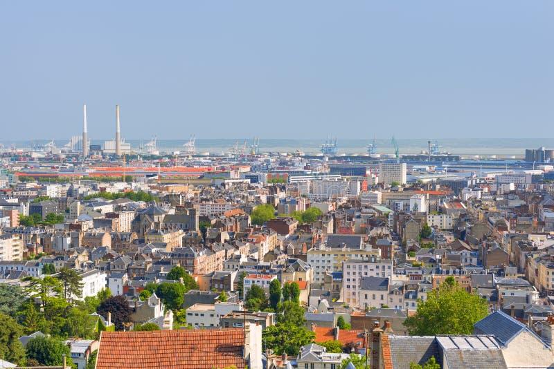 Le Havre an einem Sommertag lizenzfreie stockfotos