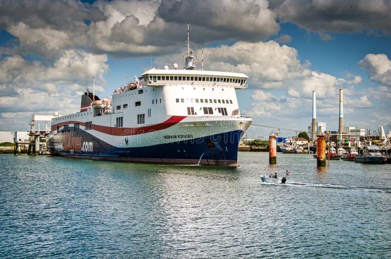 Le Havre, France - 29 juin 2012 Port célèbre en Normandie photographie stock