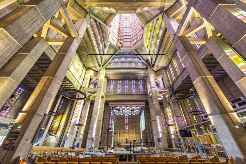 Le Havre Saint Joseph kyrka fotografering för bildbyråer