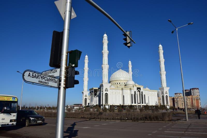 Le Haziret Sultan Mosque à Astana/Kazakhstan image libre de droits