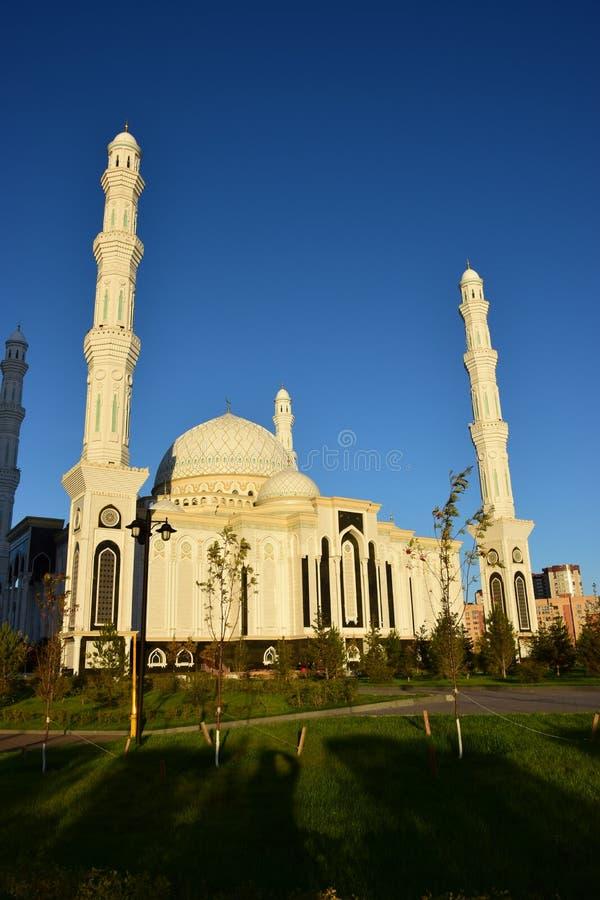 Le Haziret Sultan Mosque à Astana/Kazakhstan images libres de droits