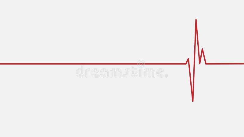 Le hearbeat rouge dirigent l'illustration pour la disposition, le fond ou le contexte Image de vecteur pour les soins de santé et illustration stock
