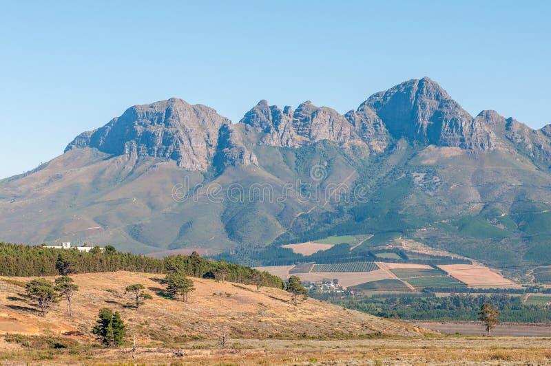 Le Helderberg (montagne claire) près de Somerset West, Afrique du Sud photographie stock libre de droits