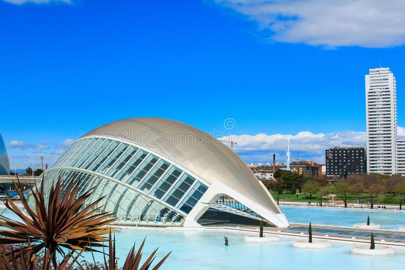 Le Hemisferic Valencia, Spanien lizenzfreie stockfotografie