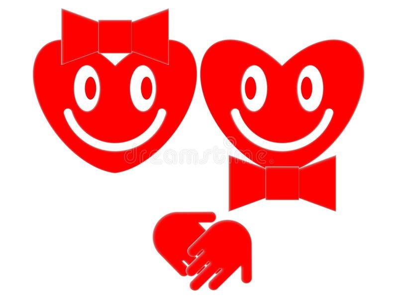 Le hjärtor royaltyfri illustrationer