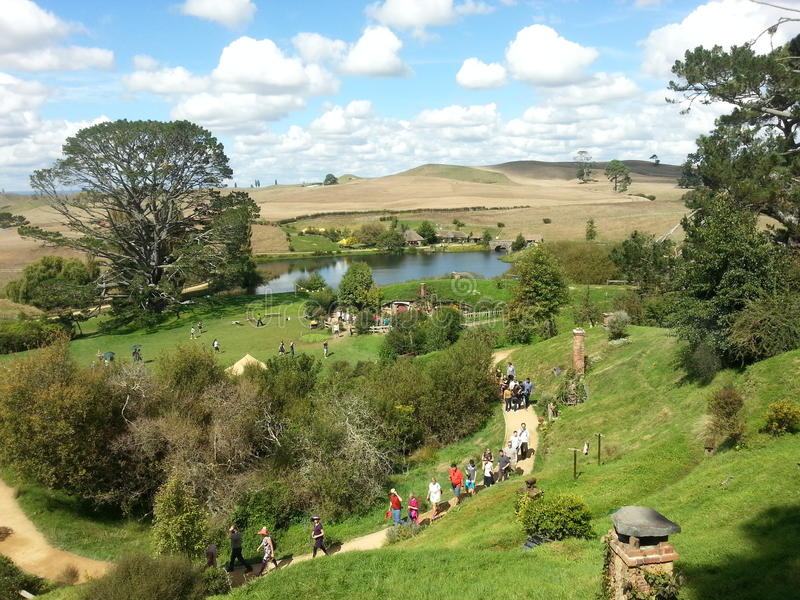 Le Hobbiton photos stock