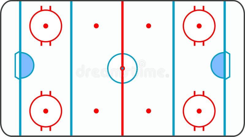 Le hockey sur glace a meulé avec toutes les lignes sur le backgrou blanc illustration stock