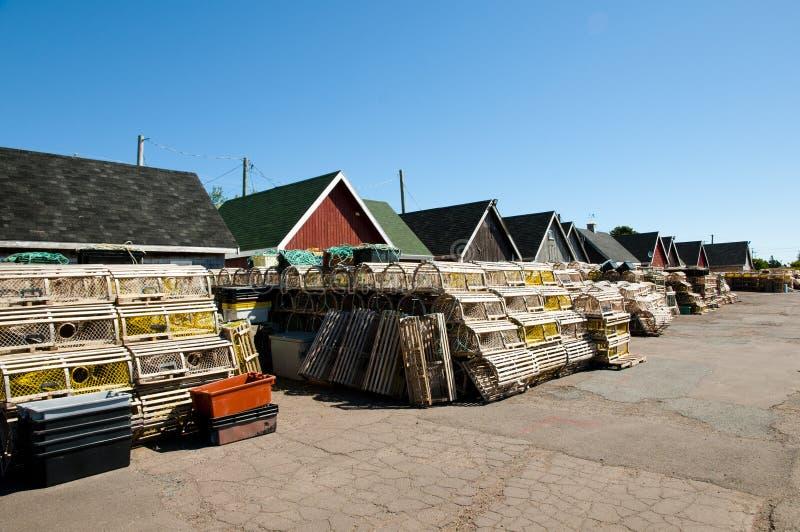Le homard emprisonne - prince Edward Island - le Canada photos stock