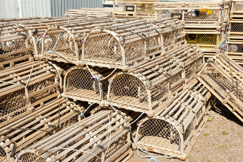 Le homard emprisonne - prince Edward Island - le Canada photographie stock