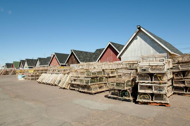 Le homard emprisonne - prince Edward Island - le Canada images stock