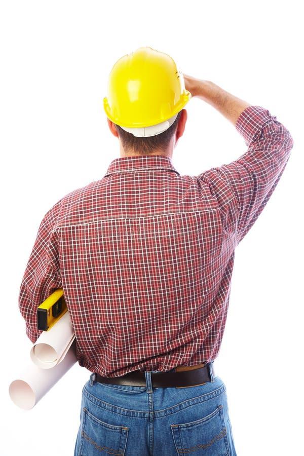 le Homme-constructeur est de retour images stock