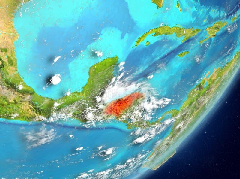Le Honduras de l'espace illustration de vecteur