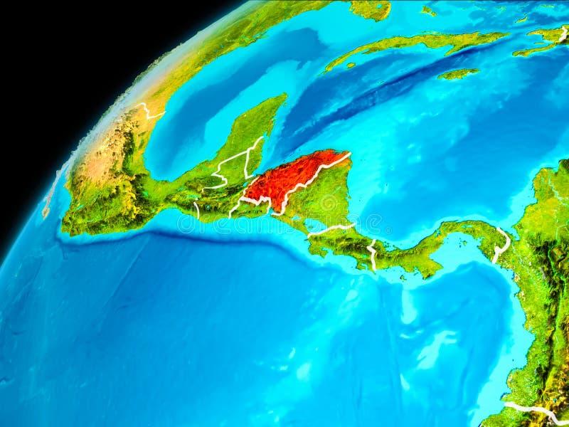Le Honduras de l'espace illustration stock
