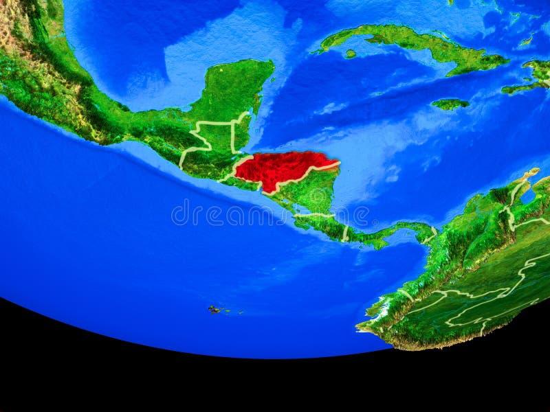 Le Honduras de l'espace sur terre illustration de vecteur