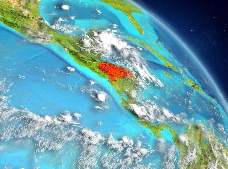 Le Honduras de l'orbite illustration stock