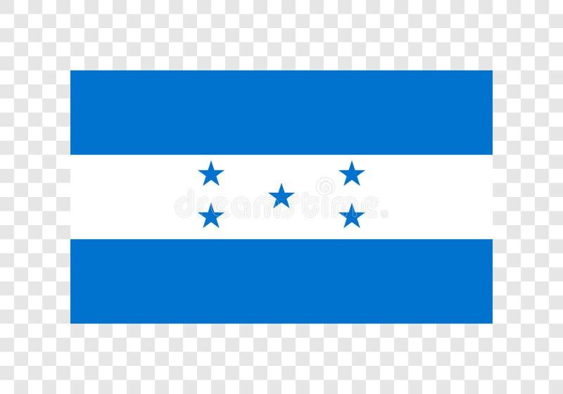 Le Honduras - drapeau national illustration stock