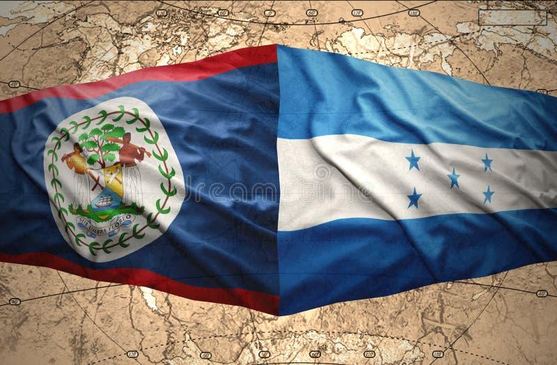 Le Honduras et Belize illustration libre de droits