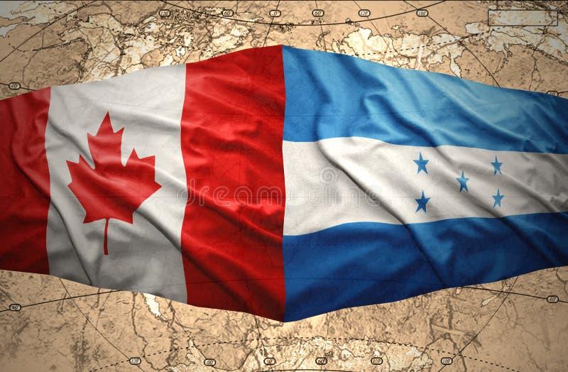 Le Honduras et le Canada illustration libre de droits