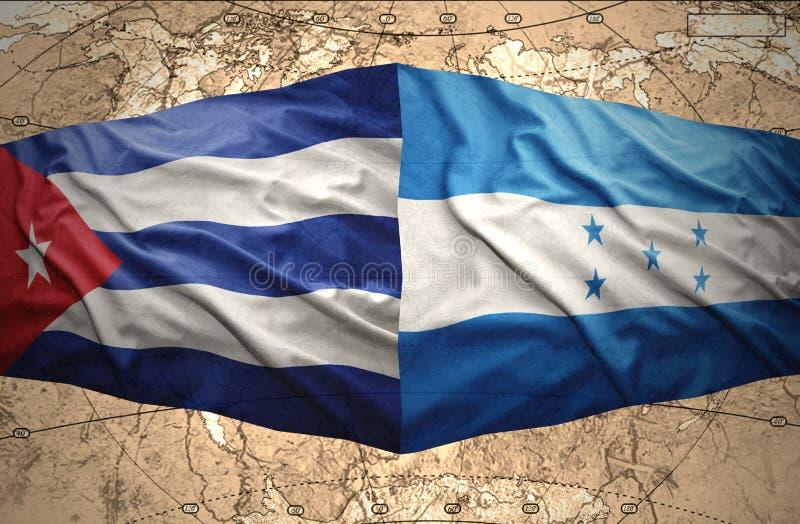 Le Honduras et le Cuba illustration de vecteur