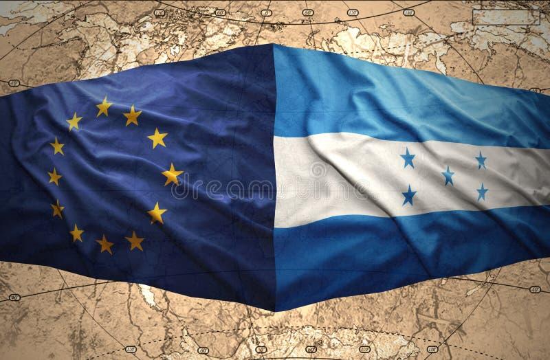 Le Honduras et l'Union européenne illustration stock