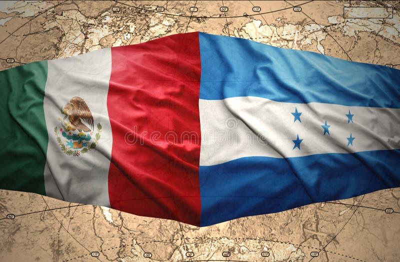 Le Honduras et le Mexique illustration stock