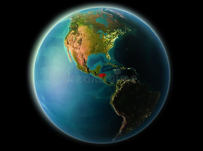 Le Honduras le soir illustration libre de droits
