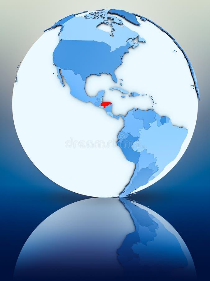 Le Honduras sur le globe bleu illustration stock