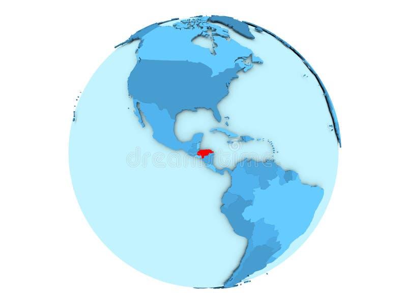 Le Honduras sur le globe bleu d'isolement illustration libre de droits